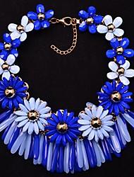 Ewigkeit Frauen wunderschönen Blumen-Edelstein Halskette