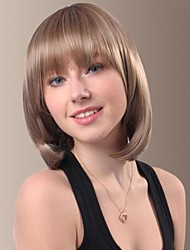 Fashionable Lovely Short Straight Hair Wigs with Full Bang