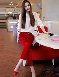 Women's Fashion Three Quarter Sleeve +Pants Suit(Blouse & Pants)