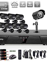 liview® completo dvr 8ch 960H y días 600TVLine / sistema de cámaras de la noche al aire libre