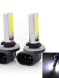 Marsing High Power 881 10W 6500K 900lm 2-COB LED Cool White Car Head Light / Foglight (12~24V / 2 PCS)