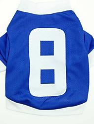Katzen / Hunde T-shirt / Trikot / Pullover Blau Hundekleidung Frühling/Herbst Sport