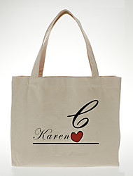 Gifts Bridesmaid Gift Personalized Canvas Bag - Red Heart