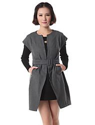 superior del vestido del chaleco de tweed las towm de las mujeres