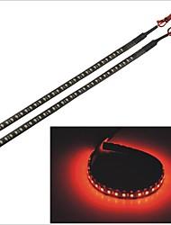 Carking™ 3528-32SMD-30CM Waterproof Car Decorative Flash Lamp Strip-Black (2pcs)