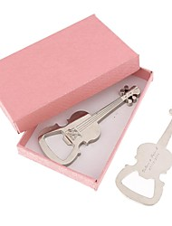 Personalized  Violin Bottle Opener  Stainless  Steel  Key Chain---Set of 6