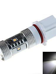 P13W 8W  7x2323 SMD 800lm 6000k  White Light LED For Car Foglight Convex Lens (DC12~30V)