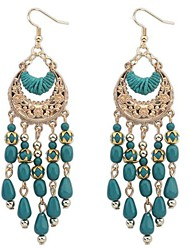 European Style Bohemian Tassel Crescent Earrings(More Colors)