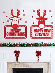 JiuBai® Christmas ReindeerWall Sticker Wall Decal