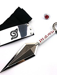 Naruto Uzumaki Naruto Ninja Outfit Headband + Kunai+ Ring Cosplay Accessories
