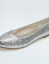Women's Wedding Shoes Round Toe Flats Wedding/Office & Career/Casual/Party & Evening Black/Silver/Gold