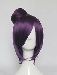 Purple Short Straight Bobo Party Cosplay Wig Synthetic Hair