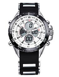 v6 borracha orkina alarme de banda esporte relógio de pulso lcd dupla afixação branco dos homens inoxidável