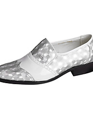 TPU Silver&White Dress Shoes