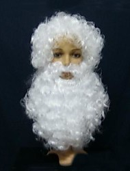 Christmas White Wig with Beard