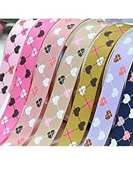 Impressão em fita padrão de simplicidade elegante querida costela 3/8 polegadas da fita 25 metros por rolo (mais cores)