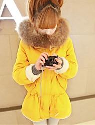 Women's Fur Collar Solid Color Hoodies Coat(More Colors)