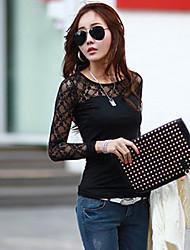 Ricci Women's Long Sleeve Lace Long Sleeve Shirt
