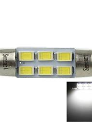 36 milímetros (sv8.5-8) 3w 6x5730smd 180-220lm 6000-6500k luz branca levou lâmpada para lâmpada de leitura de carro (ac12-16v)