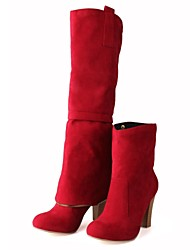 Women's Shoes Round Toe Chunky Heel Ankle/Knee High Boots(Two Ways available)