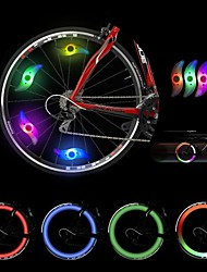 4 pcs Bike Light , Wheel Lights - 2 Mode 300 Lumens Colors changing Battery Cycling/Bike Green / Blue / Red Bike