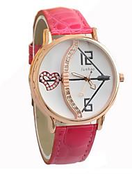 c&c ocasional relógio de quartzo de couro falso das mulheres