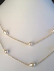 Z&X®  Contracted Fashion Alloy Pearl Strands Long Necklace