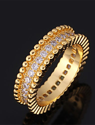 New Luxury Ring 18K Chunky Gold Plated  AAA+ CZ Stone Cubic Zirconia Jewelry
