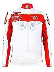 Jerseyes/Personalizada ( Blanco/RojoTranspirable/Cremallera impermeable/Listo para vestir/Resistente al Viento/Mantiene abrigado/Bandas