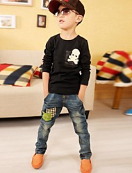 Boy's Cotton Blend Jeans , Winter/Spring/Fall