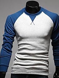 ruilike® Männer runden Kragen lässig Kontrastfarbe Shirt