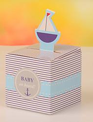 Boîtes à cadeaux Faveurs et cadeaux de fête Baby shower Thème classique Non personnalisé Papier durci Bleu