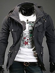 Manlodi Men's Double Collar Jacket