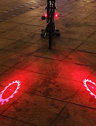UNGROL 2 Red Flame Wheels Design 1 Laser Module 6 LED 6 Flash Mode Black Bike Warning Laser Light