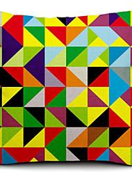 fragmento de algodão multicolor / linho fronha decorativo