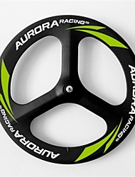 AURORA RACING 3 Spoke Carbon Wheels 700C 70mm Clincher for Road Bike/Bicycle Front Wheel