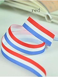 3/8 Inch Scottish Style Stripe Rib Ribbon Printing Pattern Rib Ribbon Printing Ribbon- 25 Yards Per Roll (More Colors)
