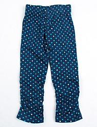 Girl's Blue Leggings Cotton / Spandex Summer