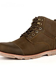 Men's Shoes Casual Leather Boots Brown/Bronze