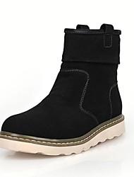 Sapatos Masculinos Casual Couro Botas Preto/Marrom/Amarelo