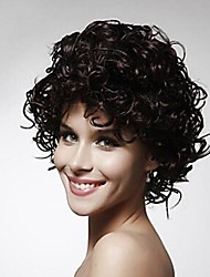 Capless Mix Color Extra Short High Quality Natural Curly Hair Synthetic Wig  None  Bang