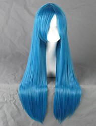Cosplay Wigs DuRaRaRa Cosplay Blue Long Anime Cosplay Wigs 80 CM Heat Resistant Fiber Female