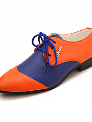 TPU Blue&Orange Dress Shoes