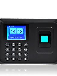 """n-a6 2.4 """"TFT temps d'empreintes digitales paie de la présence des employés de l'horloge nous enregistreur"""