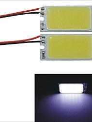 Carking™ T10 / BA9S / Festoon 28mm~40mm 2.5W 18-COB LED White Car Interior Dome Light(20*40mm)2PCS