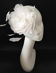 White Bridal Feather Hair Fascinator