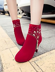 Women's Shoes Round Toe Stiletto Heel Ankle Boots More Colors available