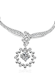 Meles Women's Fashion Lady Temperament Diamonade All-matched Necklace Necklace