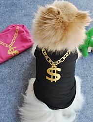 Katzen / Hunde T-shirt Schwarz / Rosa Hundekleidung Sommer Hochzeit / Cosplay