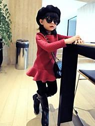 cheque prismática vestido cálido color puro europeo de niña